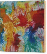 Color Abstracts Wood Print