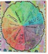 Color Wheel Wood Print