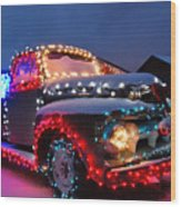 Colorado Christmas Truck Wood Print