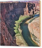 Colorado River Flows Around Horseshoe Bend  Wood Print