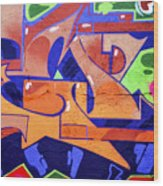 Colorful Abstract Street Art  Wood Print
