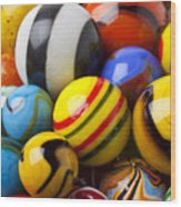 Colorful Marbles Wood Print