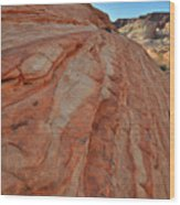 Colorful Sandstone Wave In Valley Of Fire Wood Print