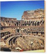 Colosseum Interior Wood Print