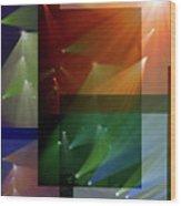 Coloured Lights II Wood Print