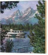 Colter Bay In The Tetons Wood Print