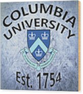 Columbia University Est. 1754 Wood Print