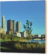 Columbus Ohio Panorama Wood Print