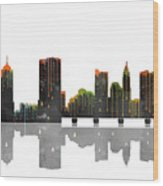 Columbus Ohio Skyline Wood Print