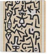 Comedians' Handbill Wood Print
