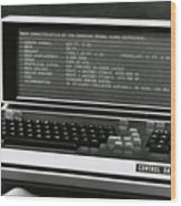 Computer Wood Print