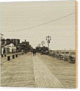 Coney Island Boardwalk Wood Print