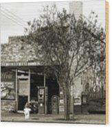 Coney Island Cafe Wood Print