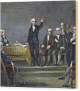 Constitutional Convention Wood Print