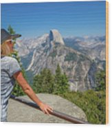 Contemplating Glacier Point Wood Print