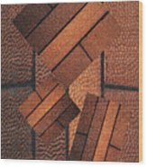 Copper Plate Abstract Wood Print