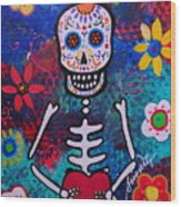 Corazon Day Of The Dead Wood Print