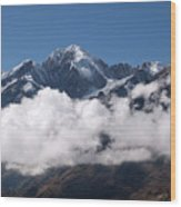 Cordillera Real And Illampu Wood Print