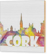 Cork Ireland Skyline Wood Print