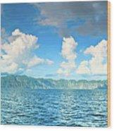 Coron Panorama Wood Print