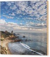 Corona Del Mar Shoreline Wood Print