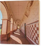 Corridor And Arches Wood Print