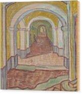 Corridor In The Asylum Wood Print