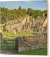 Cotswolds Evening Wood Print