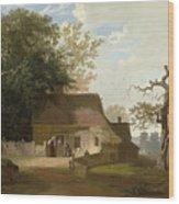 Cottage Scenery Wood Print