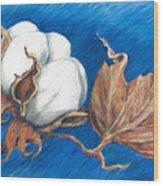 Cotton Picking Blues Wood Print