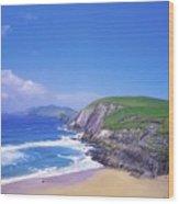 Coumeenoole Beach, Dingle Peninsula, Co Wood Print