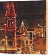 Country Club Plaza Lights Kansas City Missouri Wood Print