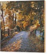 Country Cobblestone Wood Print