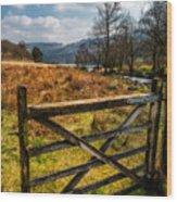 Countryside Gate Wood Print
