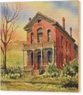 Courthouse Bannack Ghost Town Montana Wood Print