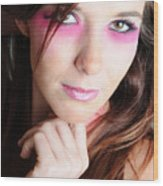 Covergirl Wood Print