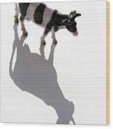 Cow Figurine Wood Print
