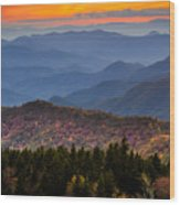 Cowee Overlook. Wood Print