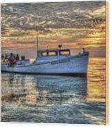 Crabbing Boat Donna Danielle - Smith Island, Maryland Wood Print
