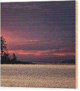 Craig Bay Sunset Wood Print