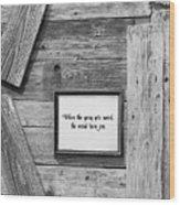 Credo Wood Print