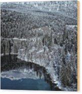 Cresta Lake Wood Print