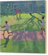 Cricket Sri Lanka Wood Print by Andrew Macara