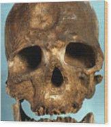Cro-magnon Skull Wood Print