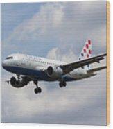 Croatia Airlines Airbus A319 Wood Print