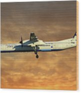 Croatia Airlines Bombardier Dash 8 Q400 Wood Print