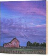 Crocheron Skies Wood Print