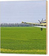 Crop Dusting Wood Print