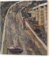 Cross-country Road Wood Print