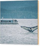Cruise Ship Pier 91 In Seattle Washington Wood Print